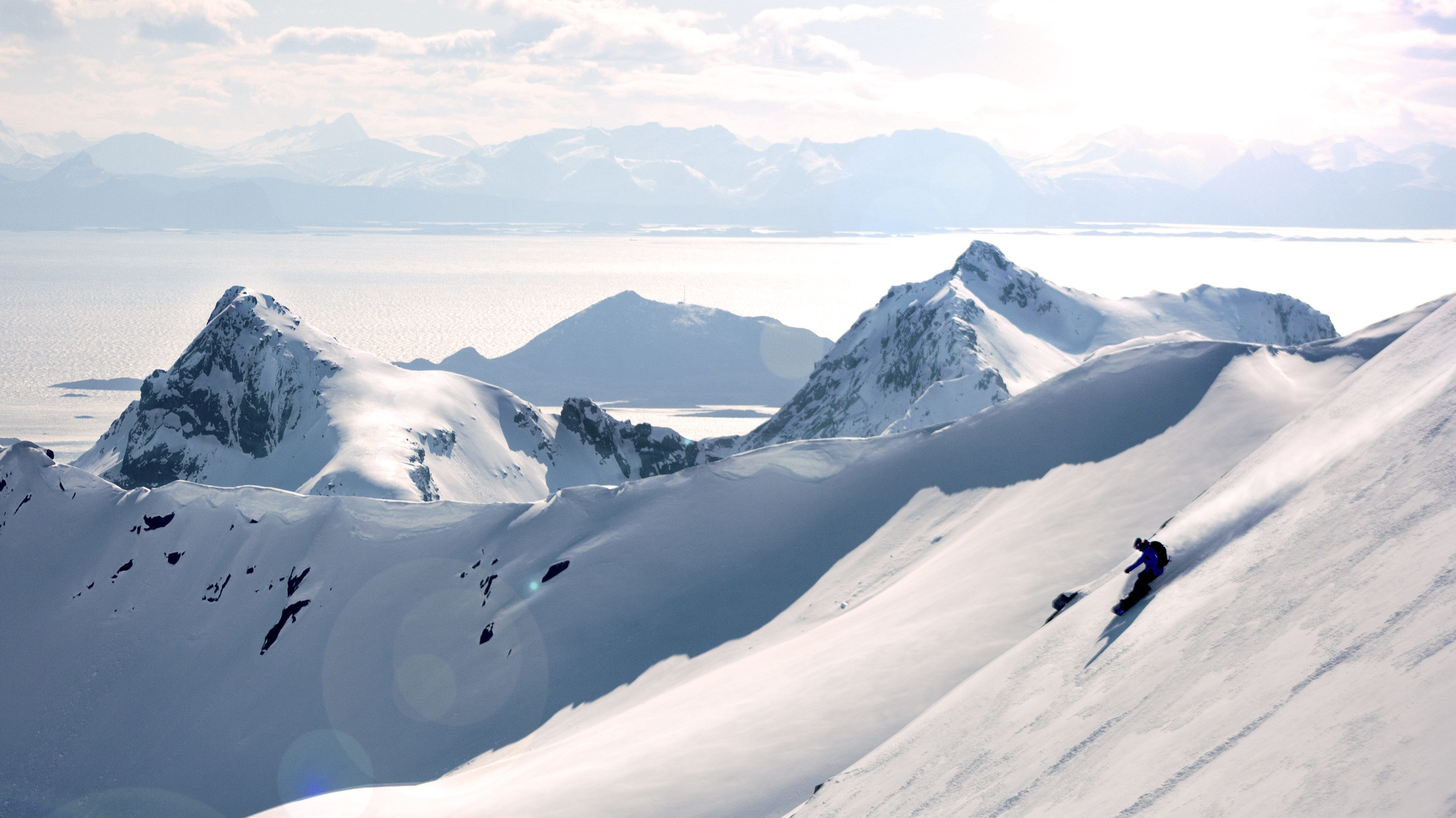 Snowboarding Rundfjellet
