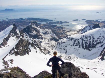 splitboarding Lofoten Varden
