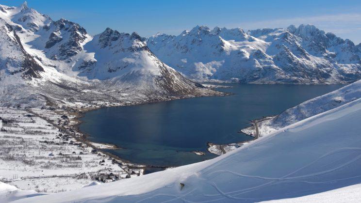 snow surfing Norway