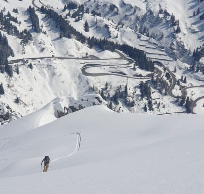 Splitboard Zuers am Arlberg